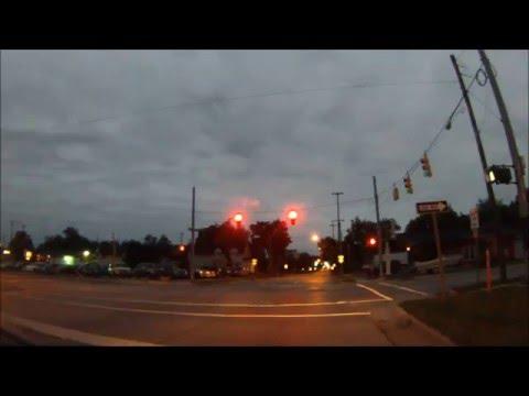 Michigan Driving:  Saginaw City to Township, Dusk to Night