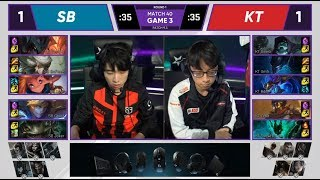 SB (Ghost Ezreal) VS KT (Bdd Aurelion Sol) Game 3 Highlights - 2019 LCK Spring W4D5