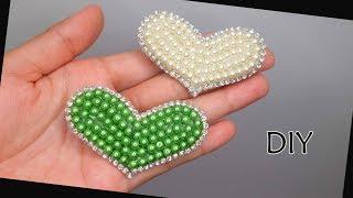 Tutorial Jepit rambut KOREA  mutiara bentuk Love | Handmade hair clip love pearl