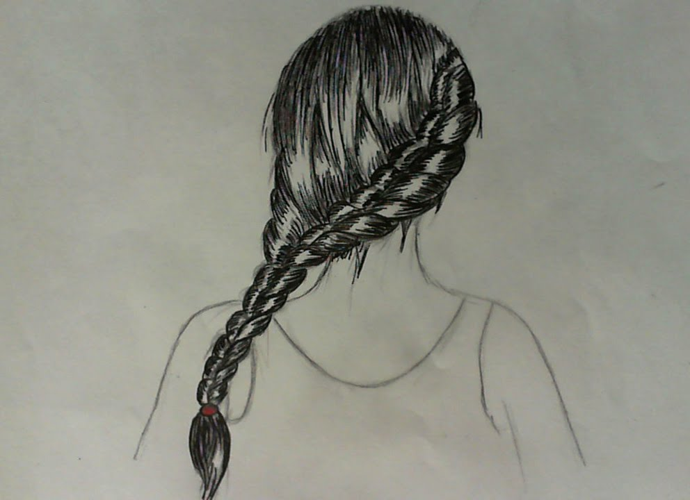 how to draw hair braid youtube