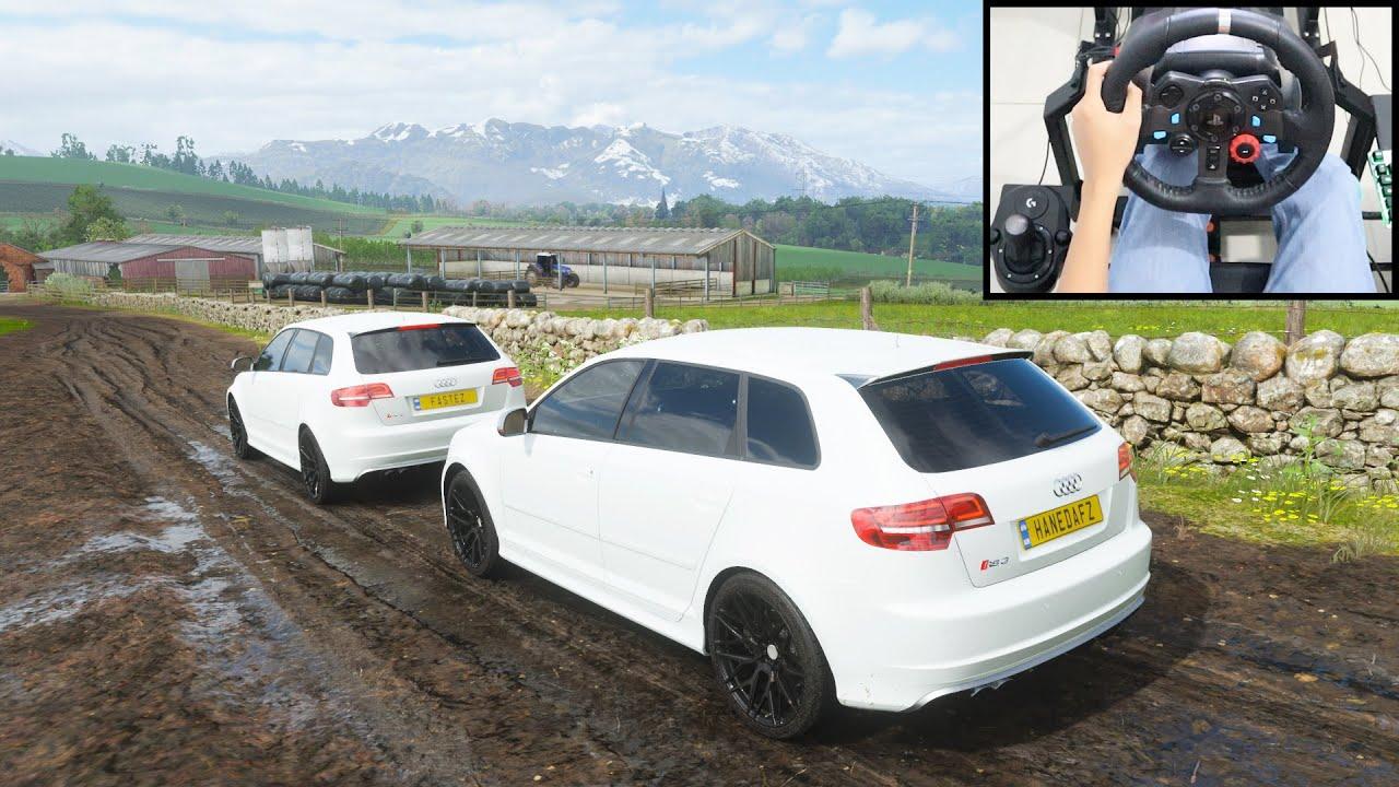 Audi RS3 Sportback - Forza Horizon 4 | Logitech g29 gameplay