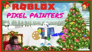 SANS PAINTS A PERFECT TREE AND TURKEY!!! - Roblox: Pixel Painters