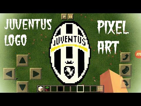 Juventus Logo Minecraft Pixel Art Youtube