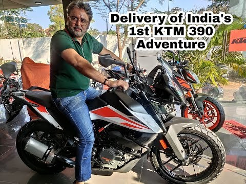 Taking delivery of KTM 390 Adventure - Hyderabad