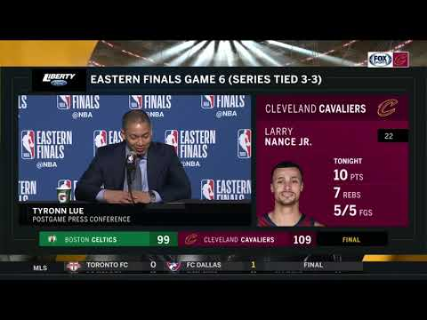 Tyronn Lue marvels at LeBron James's greatness, championship pedigree | CAVS-CELTICS POSTGAME