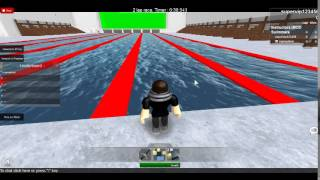 competetive swimming in ROBLOX!