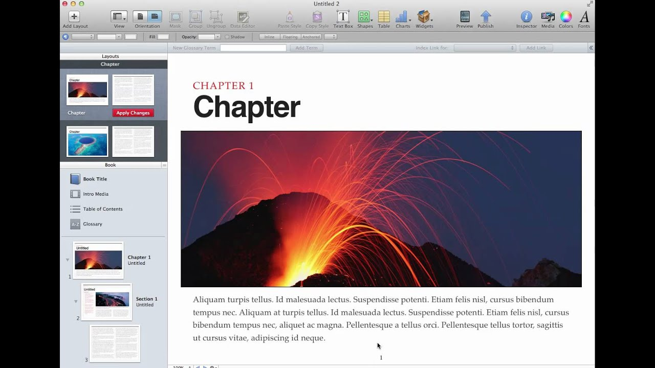 How to Edit iBooks Author Template Layout - YouTube