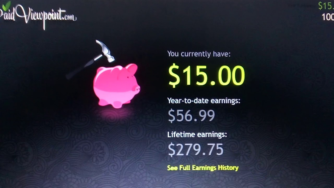 PaidViewPoint Review $15 Cash Out Free PayPal Amazon Walmart Money How to  Make Money Online Free