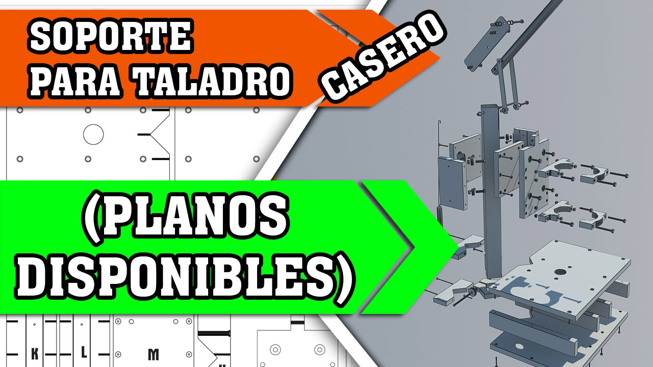 Base para taladro de banco casero planos disponibles - Soporte taladro vertical ...