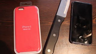 Iphone 6 red silicone case installation and review