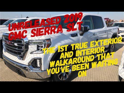 Unreleased 2019 GMC SIERRA SLT 1ST TRUE Walkaround of Interior and Exterior
