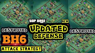 Best Builder Hall 6 Attack Strategy! Updated Defense| Builder Base Attaack | Clash of Clans