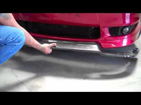 Mitsubishi Lancer Front Lip Install 2008 Youtube