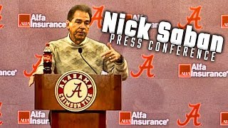 Nick Saban previews Alabama's matchup with the The Citadel