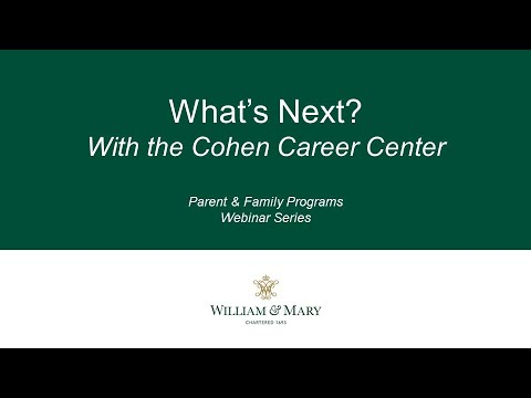 What's Next? With the Cohen Career Center