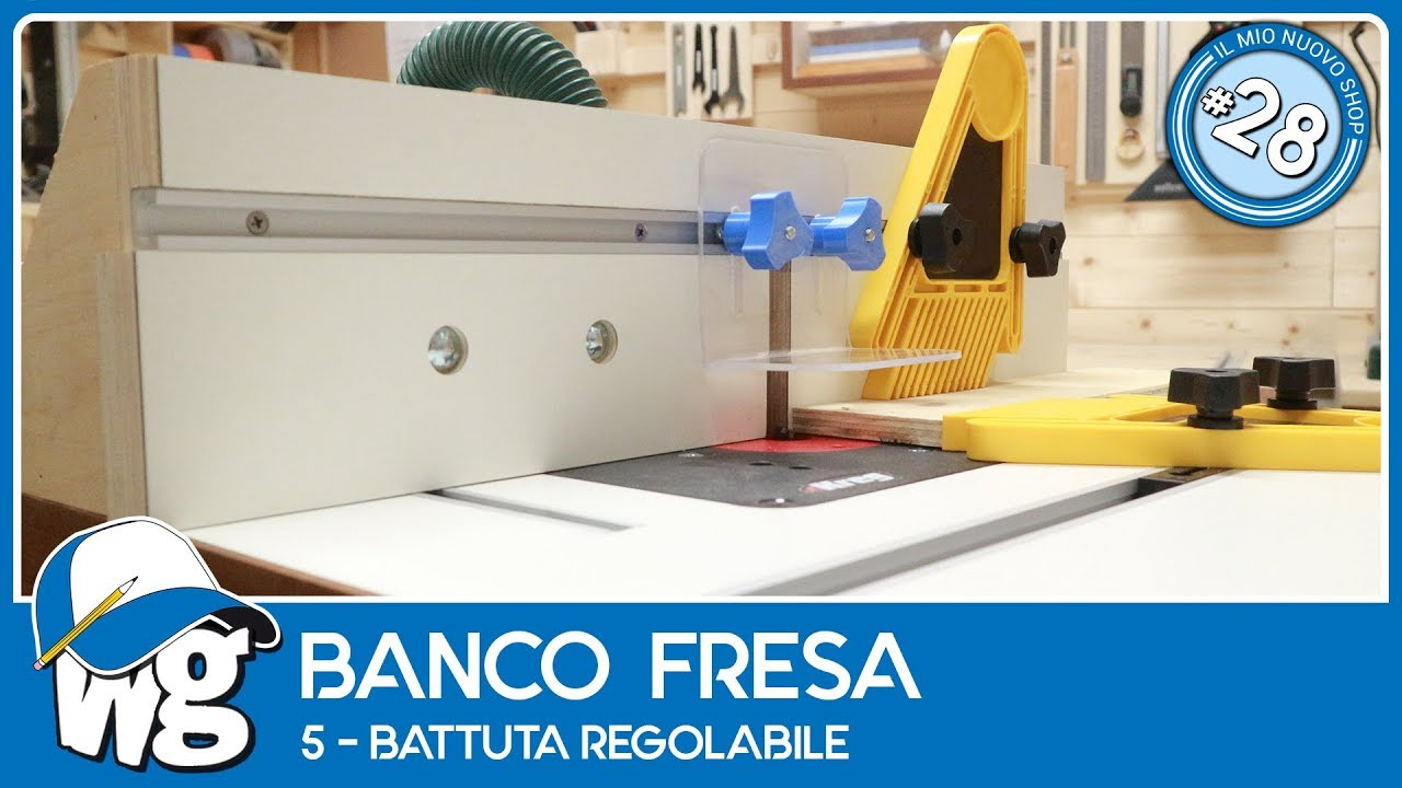 banco fresa battuta regolabile 5d5 youtube