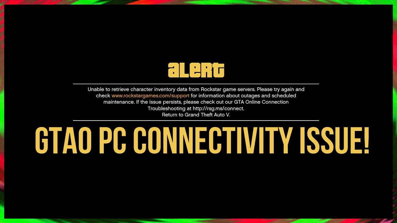 gta online connection problems pc