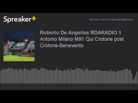 Antonio Milano M91 Qui Crotone post Crotone-Benevento