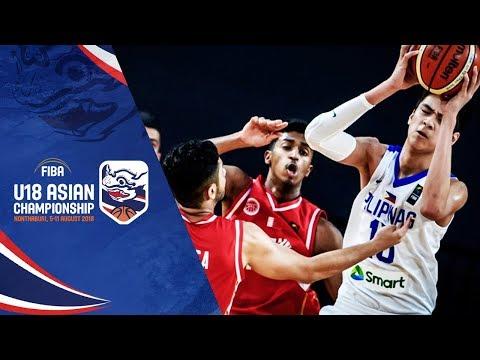 Philippines v Bahrain - Quarter-Finals - Full Game - FIBA U18 Asian Championship 2018