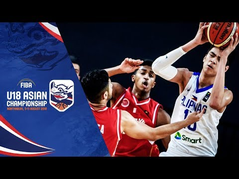 Batang Gilas def. Bahrain, 67-52 (REPLAY VIDEO) 2018 FIBA Asia U18 Quarterfinals