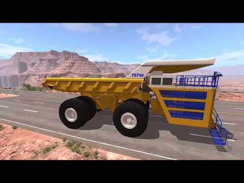 Бешеный БЕЛАЗ 75710 против БТР 80 грузовика и полиции  Игровой детский мультик про машинки