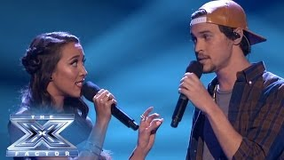 "Alex & Sierra Speak Loudly with ""Little Talks"" - THE X FACTOR USA 2013"