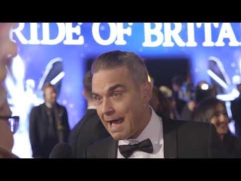 Robbie Williams at the 2018 Pride of Britain Awards