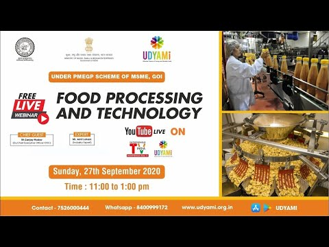 Free Udyami Webinar On Food Processing and Technology