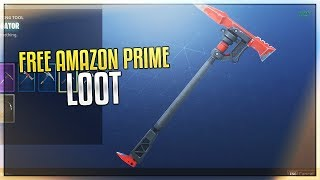 Fortnite - HOW TO GET FREE AMAZON PRIME HARVESTING TOOL! (NEW)