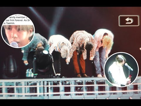 SHINee Onew Can't Hold His Tears On The Stage For First Time Since Jonghyun Passed Away