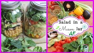 ❀ How To: Healthy Salad Recipe For Weight-loss | Salad In A Mason Jar ❀