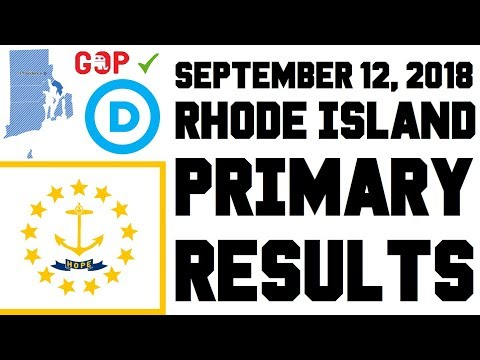 September 12, 2018 Rhode Island Primary Results - Governor, Senate, House Races