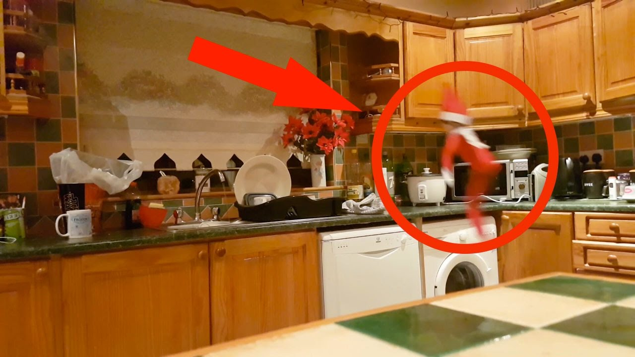 Elf On The Shelf Caught Flying In The Kitchen Youtube
