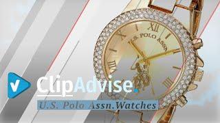 U.S. Polo Assn. Women's Analog-Quartz Watch With Alloy Strap, Gold, 8 (Model: USC40032)