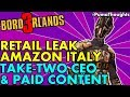 Take-Two CEO on Borderlands 3 Microtransactions, BL3 Listing Leaks on Amazon Italy (BL3 News 2018)