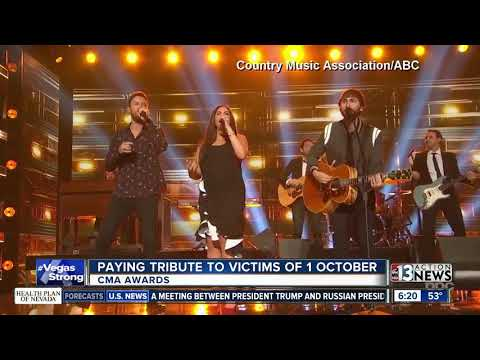 CMA Awards pay tribute to Vegas victims
