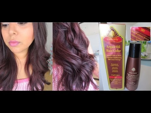 New One 39n Only Argan Oil Hair Color Review My New Hair Color  YouTube