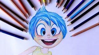 Уроки рисования.Как нарисовать РАДОСТЬ (JOY) из ГОЛОВОЛОМКИ How To Draw JOY From Inside Out(В этом уроке вы научитесь рисовать РАДОСТЬ (Joy) из Головоломки. ▻ Скачайте видео урок