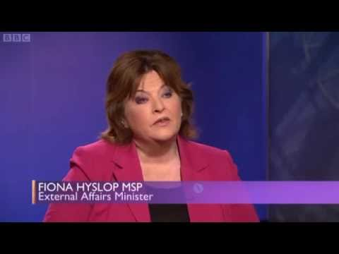 Fiona Hyslop calls the BBC out in 2013
