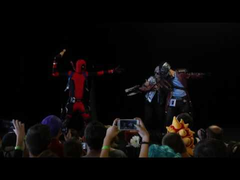 related image - Animasia 2016 - Défilé Cosplay Dimanche - 10 - Cross Over - Deadpool - Star Lord - Quicksilver