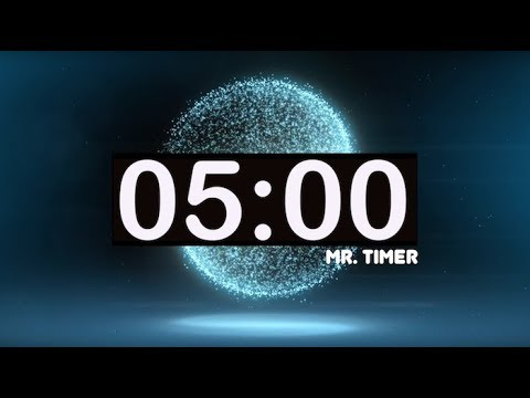 5 Minute Timer with Music for Kids! Calming, Relaxing, Soft, Meditation,  Best Online Countdown!