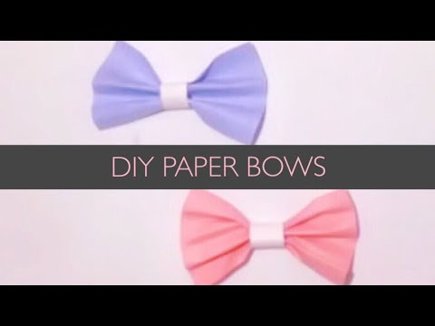 How to make a cute paper bow!!