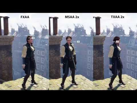 Assassins Creed Syndicate Anti-Aliasing Comparison [PC 1080p]
