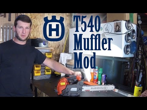 Husqvarna T540 Muffler Mod