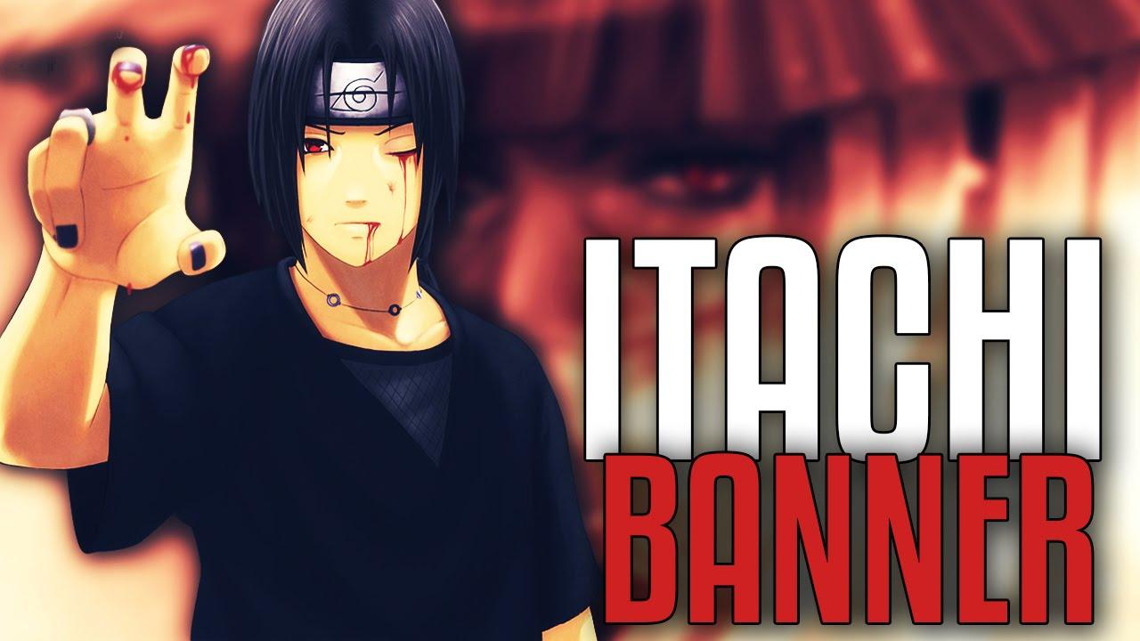 itachi uchiha banner template psd  free