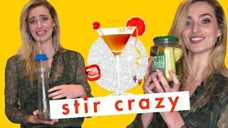 Crying Because Actress Allegra Edwards Legit Drank an Oat Milk & Pickle Juice Cocktail | Stir Crazy