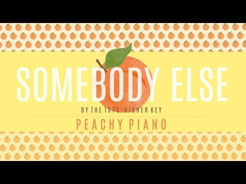 Somebody Else - The 1975 (Higher Key) | Piano Backing Track