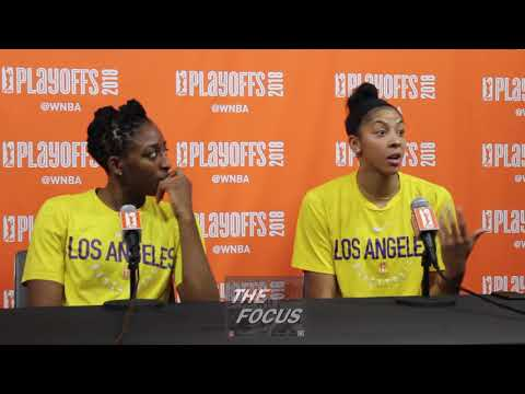 WNBA Playoffs   Washington Mystics vs LA Sparks   Sparks Post Game I