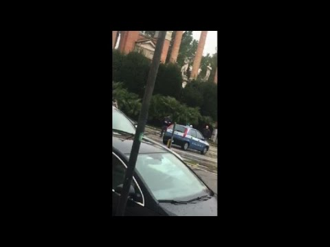 Amateur footage from scene of of Italy shootings