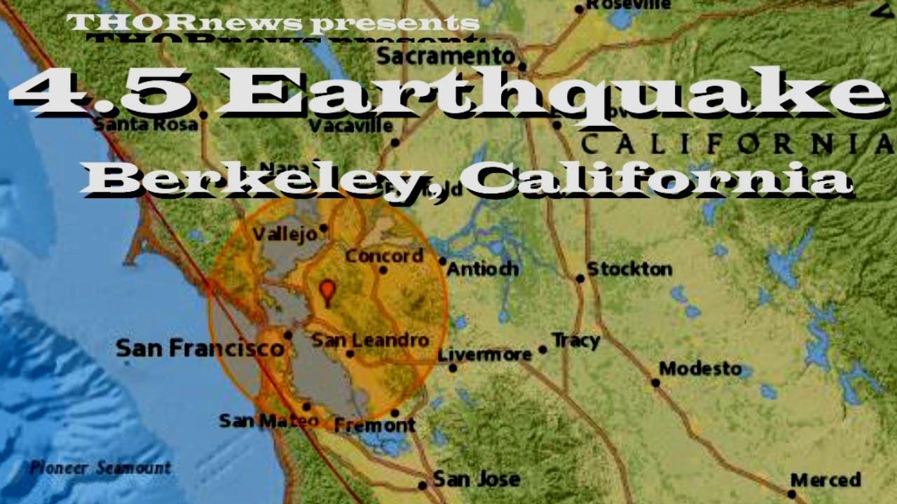 San Jose Earthquake Map Usgs Earthquake Berkeley